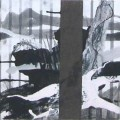 Spurensuche Trier  Stamm  - Mischtechnik auf Holz 30 x 30 - 2002