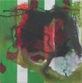 Spurensuche Trier  I / 2 Moos  - Mischtechnik auf Holz 15 x 15 - 2002