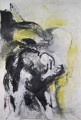 Ohne Titel  - Mischtechnik auf Leinwand 155 x 110 - 2003