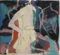 Akt im blauen Raum  - Mischtechnik auf Leinwand 20 x 30 - 2003