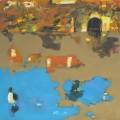 Spurensuche Schloss Rheydt  Ente - Acryl auf Leinwand 70 x 70 - 2003