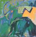 Spurensuche Schloss Rheydt  III/2 - Mischtechnik auf Papier 50 x 50 - 2003
