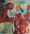 Ohne Titel  - Mischtechnik auf Leinwand 115 x 110 - 2004