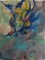 Stürzender Vogel  - Acryl auf Leinwand 110 x 80 -  2004