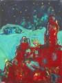 """Das alte Schloss  Nr. 4 aus dem 10-teiligen Zyklus """"Bilder einer Ausstellung"""" nach Mussorgsky / Emmerson, Lake & Palmer  - Acryl auf Leinwand 80 x 60 2005"""