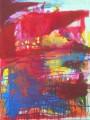 """Die Hütte der Baba-Yaga  Nr. 9 aus dem 10-teiligen Zyklus """"Bilder einer Ausstellung"""" nach Mussorgsky / Emmerson, Lake & Palmer  - Acryl auf Leinwand 80 x 60 2005"""