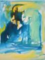 """Tuilerien  Nr. 6 aus dem 10-teiligen Zyklus """"Bilder einer Ausstellung"""" nach Mussorgsky / Emmerson, Lake & Palmer  - Acryl auf Leinwand 80 x 60 2005"""