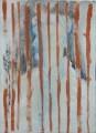 """III/2 aus dem Zyklus: """"Die Kinder von Auschwitz"""" Asche / Kreide / Leim auf Leinwand, 70 x 50, 2006"""