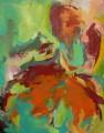 Im Tanz II 2008  Acryl auf Leinwand, 200 x 159 cm