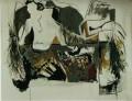 Installation mit grauem Tuch  - 2001 - Acryl auf Leinwand 250 x 155