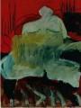 Das rote Zimmer  - 2001 - Acryl auf Pappe 70 x 100