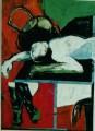 Akt / Stiefel / Hand  - 2000 - Acryl auf Leinwand 98 x 138