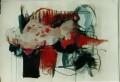 Liegend mit Punkten  - 2001 - Mischtechnik auf Papier 70 x 50