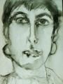 Selbstportrait I  - 2000 - Tempera auf Leinwandkarton 30 x 24