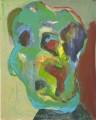 Porträt Deformation bunt- 2011- 50 x 40 cmAcryl auf Pappe