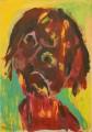 Porträt Deformation Mädchen- 2011- 60 x 42 cmAcryl auf Pappe