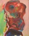 Porträt Deformation rot- 2011- 50 x 40 cmAcryl auf Pappe