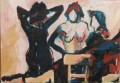 Badende  - 1994 - Acryl auf Pappe 70 x 100