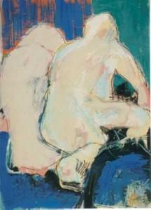 Rückenakte  - 1999 - Acryl und Kreide auf Papier 50 x 70