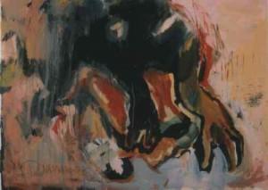 ohne Titel  - 1995 - Acryl auf Pappe 70 x 100