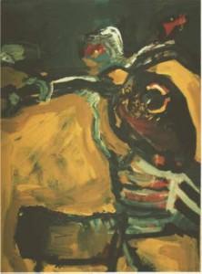 Motorrad  - 1995 - Acryl auf Pappe, 67 x 49