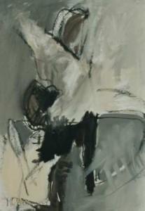 Pirouette  - 1998 - Acryl und Ölstift auf Leinwand 105 x 71
