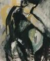 Frau mit Reifen  - 1998 - Mischtechnik auf Leinwand  99 x 79