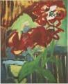 Verblühte Tulpen  - 1998 - Acryl auf Leinwand, 77 x 78