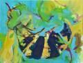 Wespe I, Acryl auf Leinwand, 90 cm x 70 cm, 2018