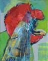 Wespe II, Acryl auf Leinwand, 80 cm x 100 cm, 2018