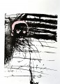XIV/1 Siebdruck Thermofax Acryl auf Papier, 42 x 30 cm, 2019